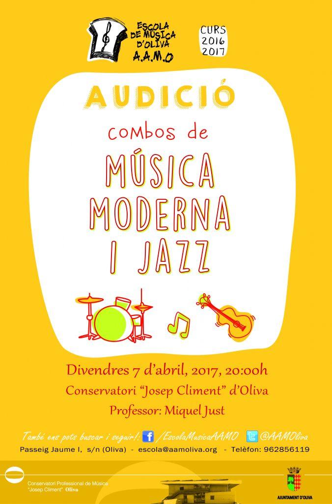 Cartell audició música moderna i jazz